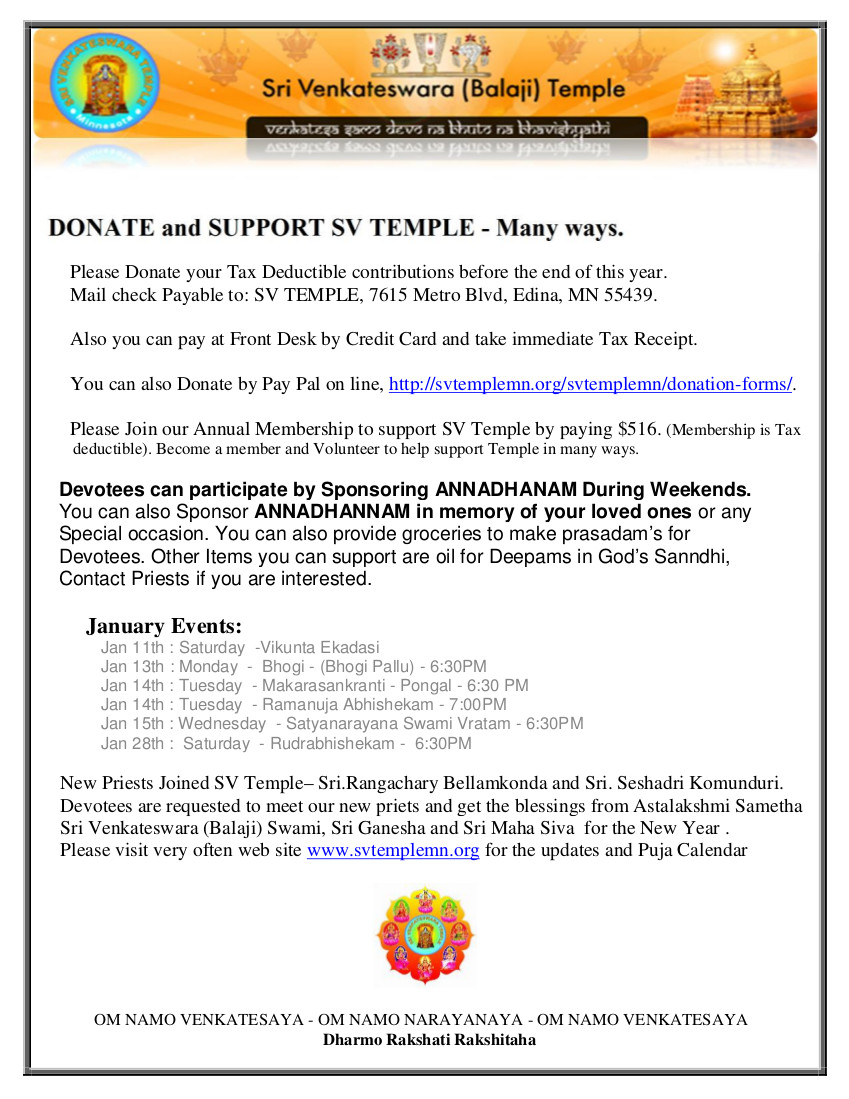 Donate and Support Brochure